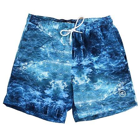Shorts Masculino Hawewe Patch Wave Azul