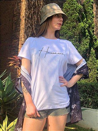 Camiseta Hawewe Letter Branca