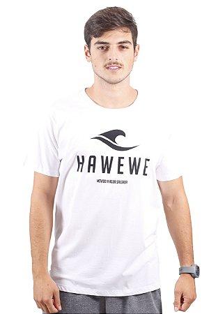 Camiseta Hawewe Surf Movido Água Salgada Branca