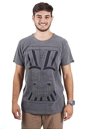 Camiseta Hawewe Surf Tiki Estonada Cinza