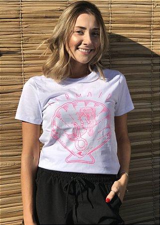 Camiseta Hawewe Surf Sereia Branca