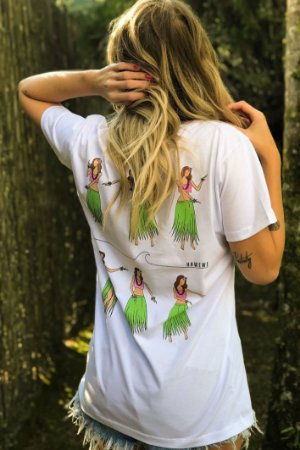 Camiseta Hawewe Hula Culture Girl Branca