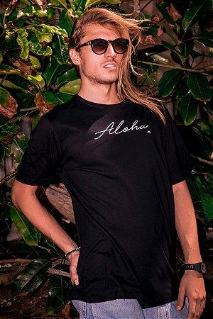 Camiseta Hawewe Aloha Preta Masculina