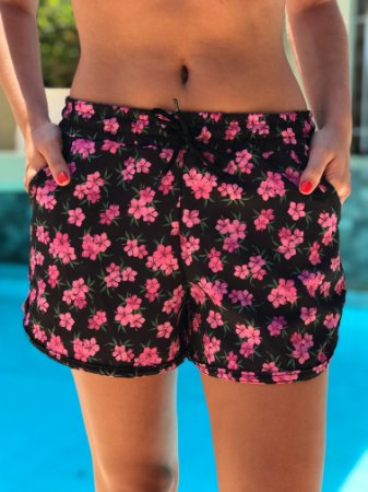 Shorts Hawewe Floral Rosa