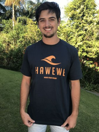 Camiseta Hawewe Movido a água Salgada Marinho