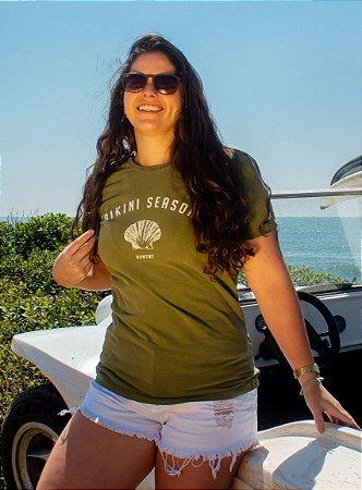 Camiseta Hawewe Bikini Season Verde Estonada