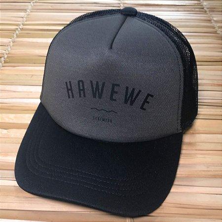 Boné Hawewe Surfwear Trucker Grafite