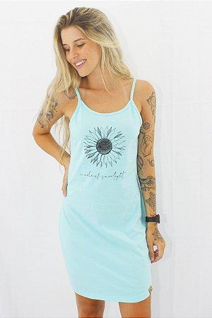 Vestido Alça Hawewe Made of sunlight Menta Estonado
