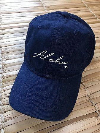 Boné Hawewe Dad Hat Aloha Azul Marinho