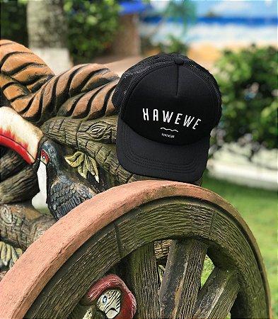 Boné Hawewe Surfwear Trucker Preto