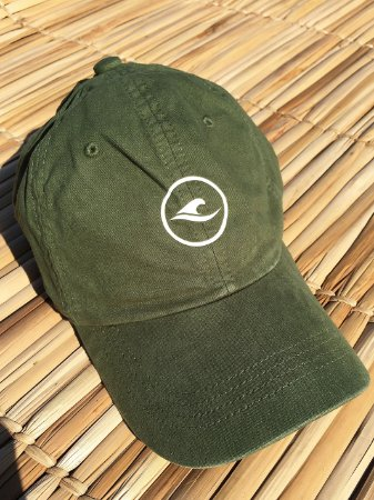 Boné Hawewe Dad Hat Logo Verde Militar