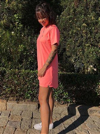 Vestido Hawewe Verão Com Bolso Coral