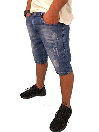 Bermuda Hawewe Jeans Escuro