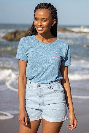 Camiseta Hawewe Prancha Horizontal Botonê Azul