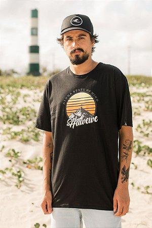 Camiseta Hawewe Masculina Aloha State Of Mind Preta