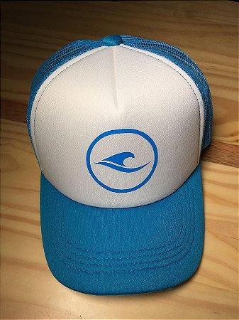 Boné Hawewe Surf Logo Trucker Azul