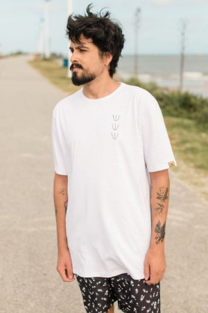 Camiseta Hawewe Masculina Backside Branca