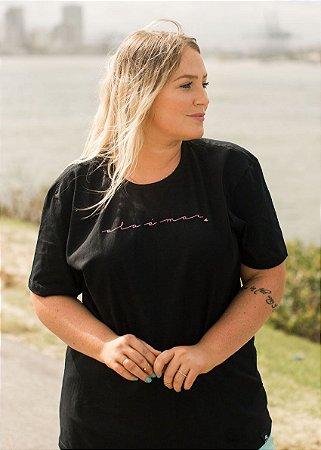 Camiseta Hawewe Preta Ela é Mar
