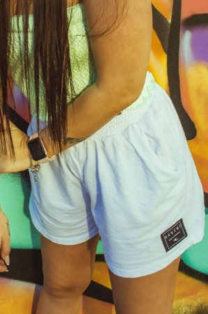 Shorts Hawewe Moletinho Branco
