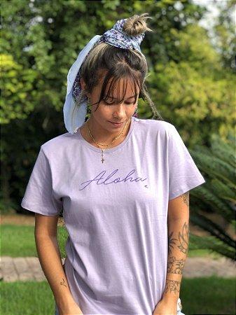 Camiseta Hawewe Aloha Lavanda