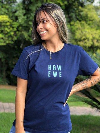 Camiseta Hawewe Middle Marinho Feminina