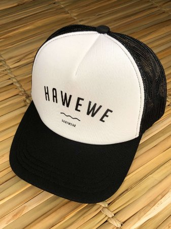 Boné Hawewe Surfwear Trucker Branco