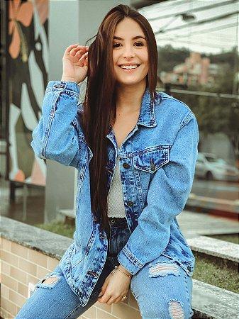 Jaqueta Jeans Hawewe Oversized