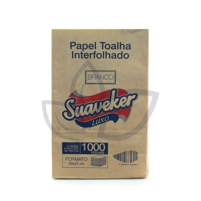 Papel Toalha Interfolhado Suaveker Luxo c/ 1000 folhas - 20x21