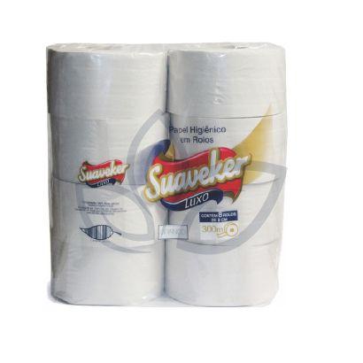 Papel Higienico Rolao 08x300mts - Suaveker Luxo