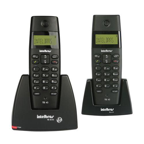Telefone sem Fio Intelbras TS 40 C + Ramal - Identificador de Chamadas