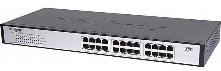 Switch Intelbras 24 Portas Gigabit Ethernet - Sg 2400 Qr