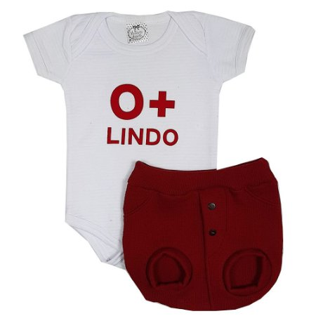 Conjunto Bebê O + Lindo Vermelho