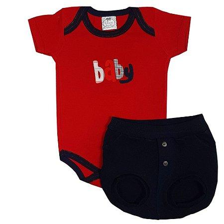 Conjunto Bebê Baby Shorts Bola