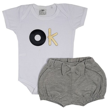 Conjunto Bebê OK Branco