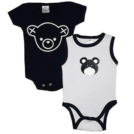 Kit Body Urso Preto E Branco