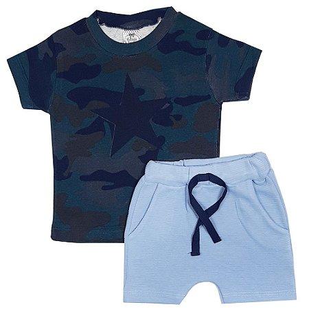 Conjunto Infantil Camuflado Azul