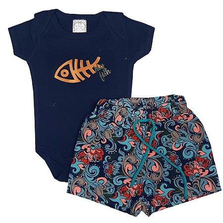 Conjunto Bebê Azul Do Verão