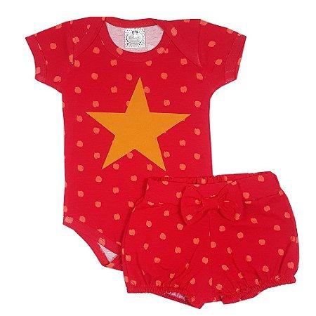 Conjunto Bebê Estrela Pink