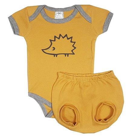 Conjunto Bebê Ouriço Amarelo