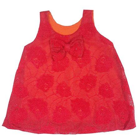 Vestido Infantil Balone De Renda