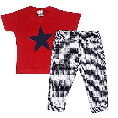 Conjunto Infantil Camiseta Estrela + Calça