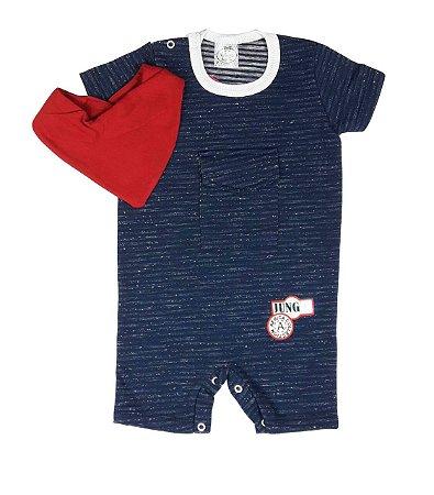 Macacão Bebê de Verão Azul Marinho