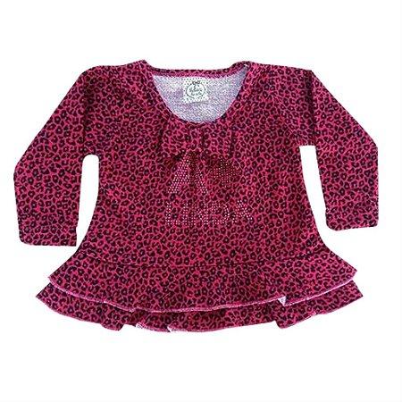 Blusa Infantil Pink Oncinha