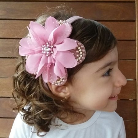 Tiara Infantil Rosa Claro