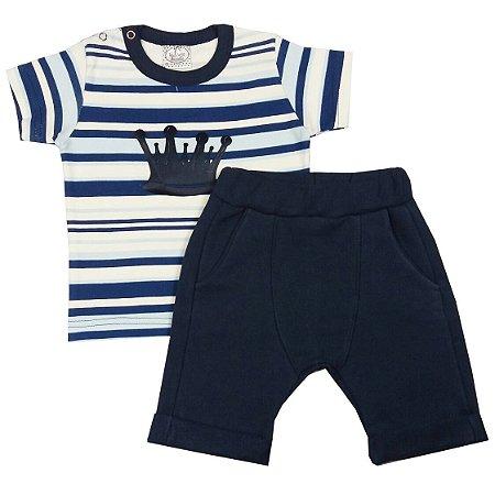 Conjunto Bebê Shorts Saruel e Camiseta