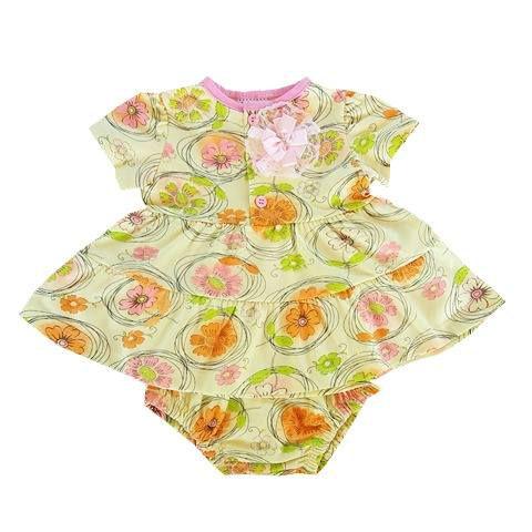 Conjunto Bebê Bata Floral com Calcinha