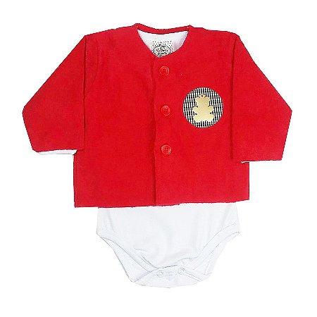 Casaco Bebê com Body Cotton