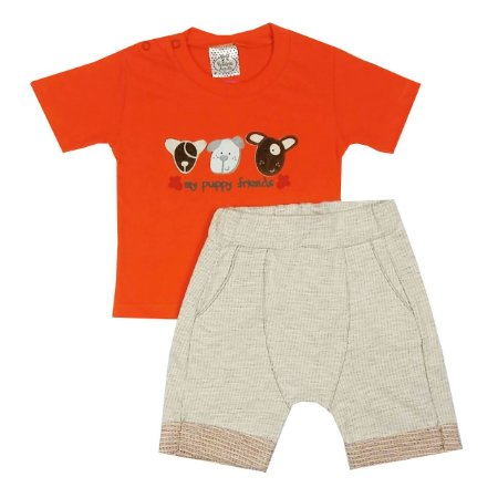 Conjunto Bebê My Friends Camiseta e Shorts Saruel