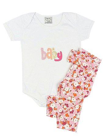 Conjunto Bebê Body Baby e Calça Leging