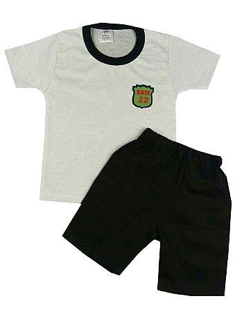 Conjunto Infantil Camiseta e Bermuda Sarja